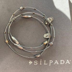 B2185 Silpada sterling silver Haiku Trio bracelets